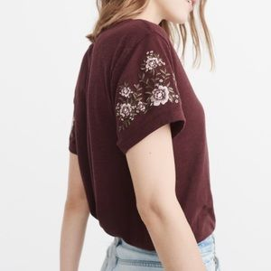 Abercrombie Embroidered Tee Shirt